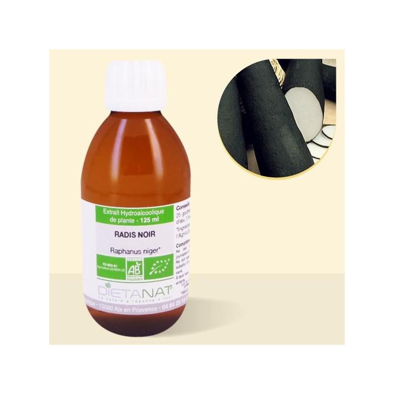 Radis noir bio - 125ml Teinture mère bio de Dietanat