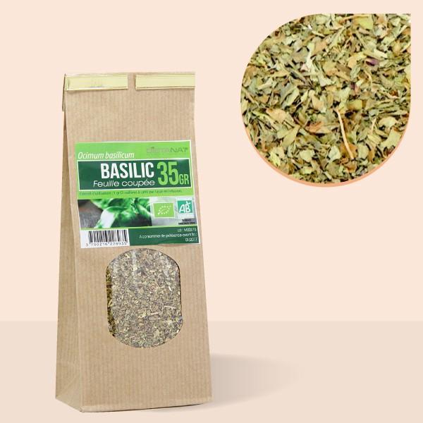 Basilic feuilles coupées bio - 35gr Tisane médicinale