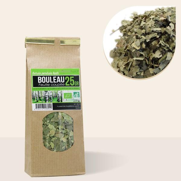 Bouleau Verruqueux feuilles coupées bio - 25gr Tisane médicinale