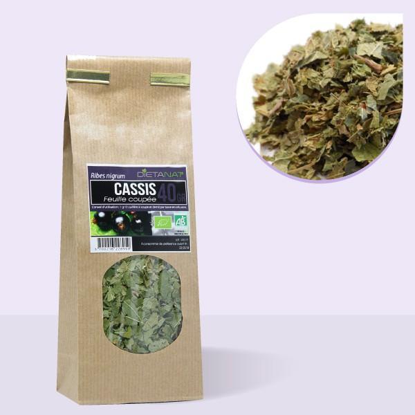 Cassis feuilles coupées bio - 40gr Tisane médicinale